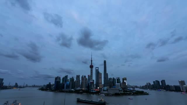 4K Time Lapse-Shanghai Bund night