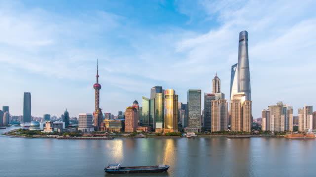 Time lapse-shanghai skyline