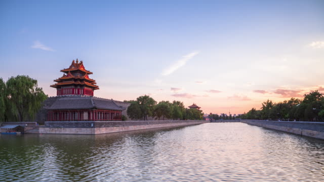 time lapse-sunset of forbidden city - forbidden city stock videos & royalty-free footage