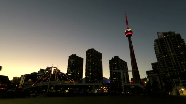 time lapse:toronto skyline - tram stock videos & royalty-free footage