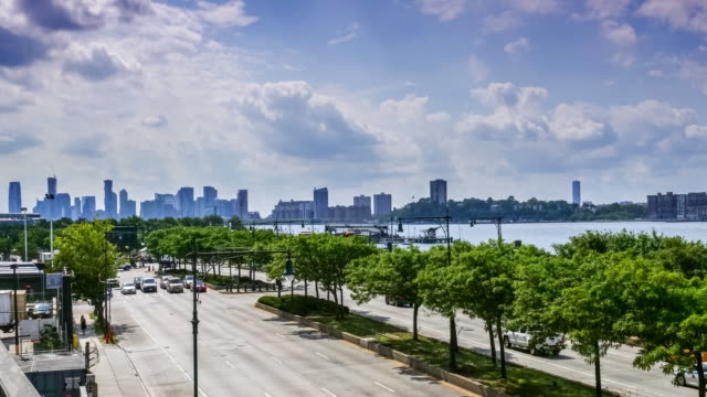 Time lapse:Traffic at Rush Hour on FDR Drive, Manhattan, New York.