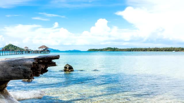 time lapse:tropical island in thailand - paesaggio marino video stock e b–roll