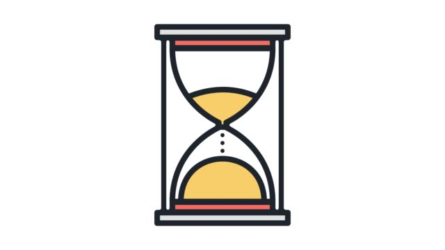 time limit or deadline line icon animation with alpha - calendar stock videos & royalty-free footage