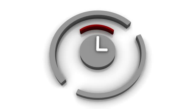 time loop hd - clock hand stock videos & royalty-free footage