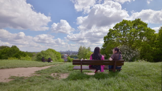time of day and seasonal change on parliament hill overlooking the city of london - parliament hill stock videos & royalty-free footage