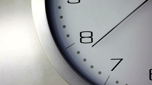 stockvideo's en b-roll-footage met time seconds hand nine    ti - number 8
