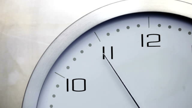 time seconds hand twelve    ti - clock stock videos & royalty-free footage