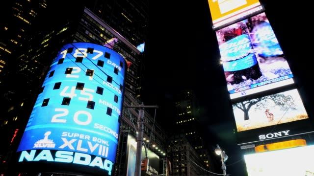time square, 42nd street, broadway advertisements, nasdaq, midtown manhattan, new york city, usa time lapse, time square, new york city on june 29,... - 2013 stock videos & royalty-free footage