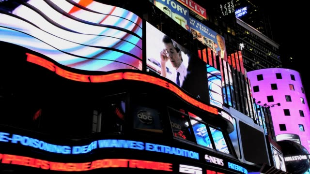 LAPSE Time Square 42nd Street Broadway Propaganda NASDAQ Midtown Manhattan New York City USA TIME LAPSE Time Square Broadway Propaganda on July 29...
