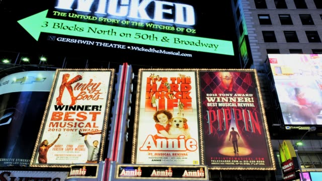 LAPSE Time Square 42nd Street Broadway Show Advertisements Midtown Manhattan New York City USA TIME LAPSE Time Square Broadway on July 29 2013 in New...