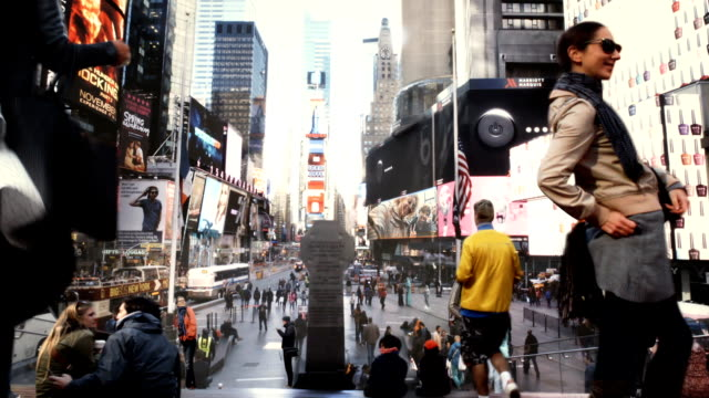 time square cinemagraph parallax hd1080 - photography stock videos & royalty-free footage