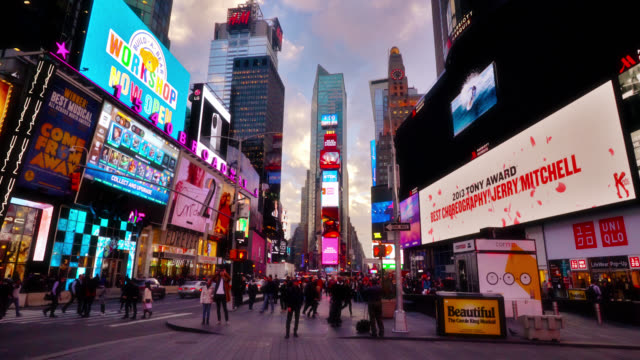 time square. grand. adveritise. - square composition stock videos & royalty-free footage