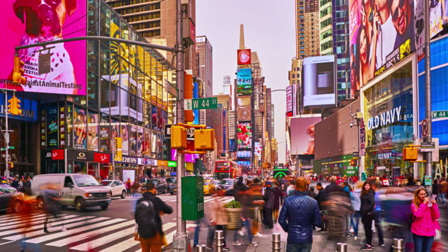time square. grand view - long exposure stock videos & royalty-free footage
