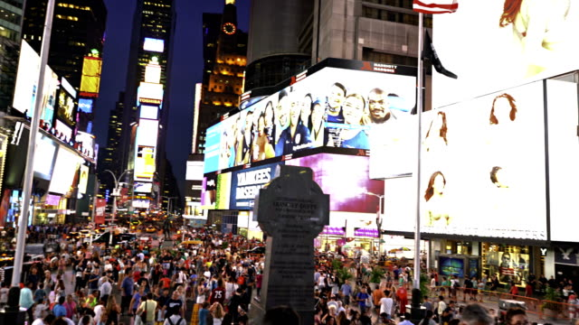 time square. new york - information sign stock videos & royalty-free footage