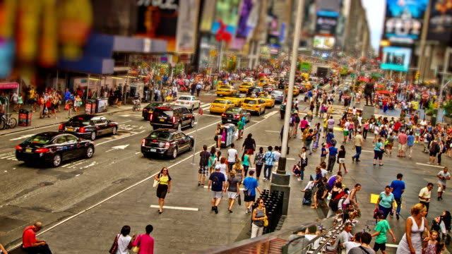 time square. new york. - yellow taxi stock videos & royalty-free footage