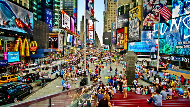 time square.  new york - broadway manhattan stock-videos und b-roll-filmmaterial