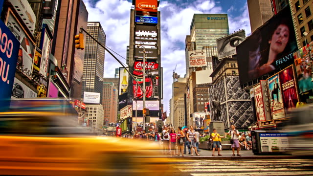 time square. new york - editorial stock videos & royalty-free footage