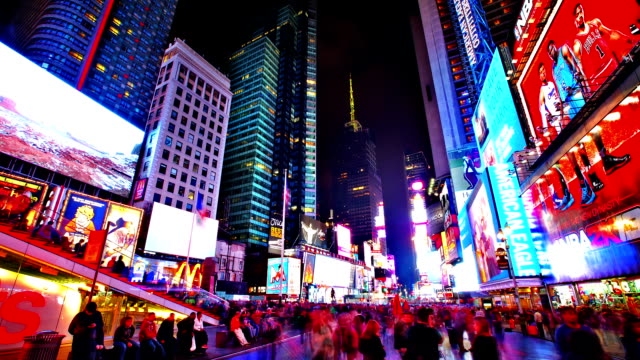 time square. new york - manhattan theater district stock videos and b-roll footage