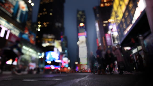 Time Square Selective Focus