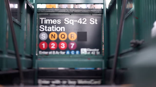 time square station - underground rail stock videos & royalty-free footage