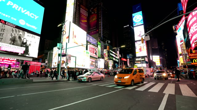 time square traffic - digital signage stock videos and b-roll footage