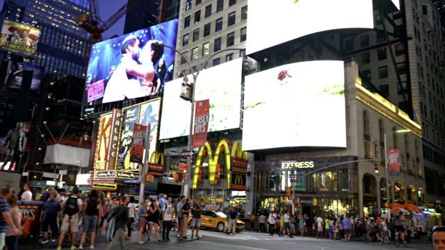 time square - mcdonald's stock videos & royalty-free footage