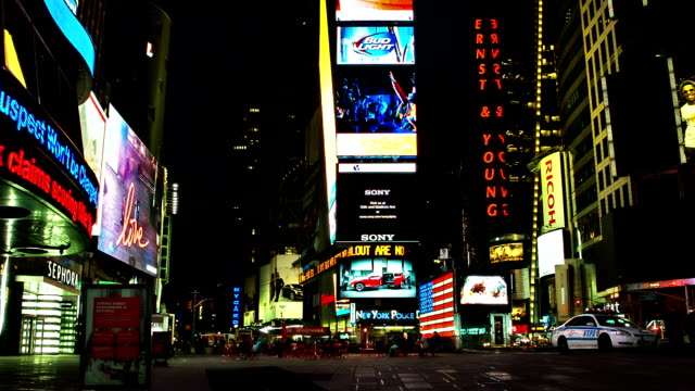 time square - manhattan theater district stock videos and b-roll footage