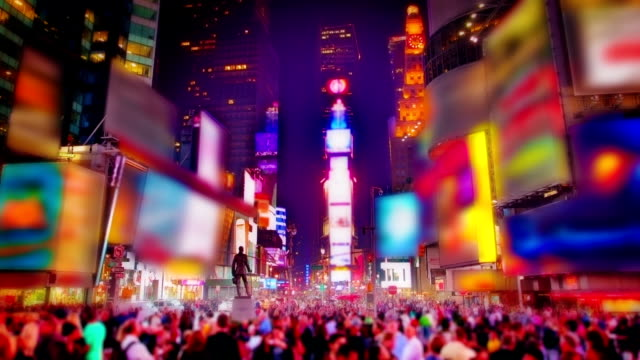time square zoom. - square composition stock videos & royalty-free footage