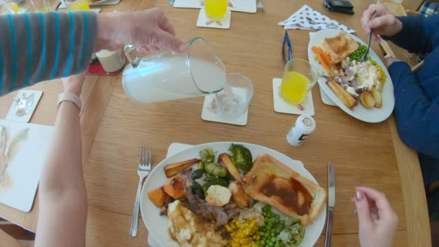 time to eat - roast dinner stock videos & royalty-free footage