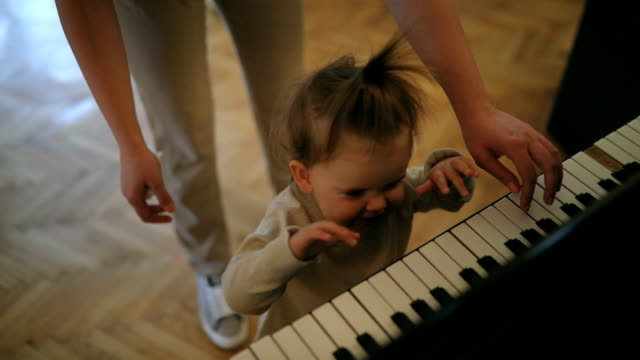 time to play the piano - toddler stock videos & royalty-free footage