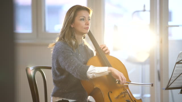 time to practice - cellist stock videos & royalty-free footage