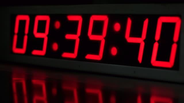 time - digital clock stock videos & royalty-free footage