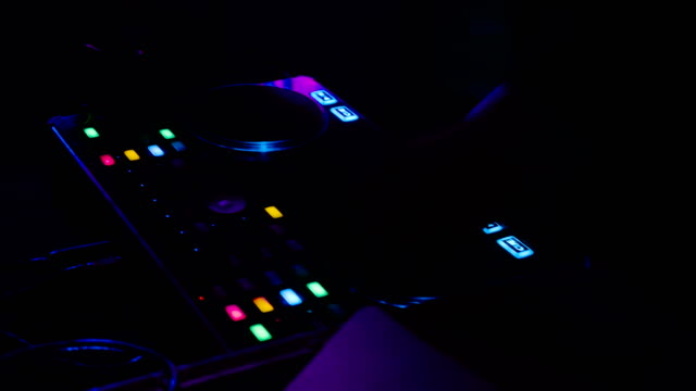 dj time - techno music stock videos & royalty-free footage
