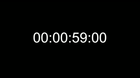 timecode countdown real time one minute 24 fps - clock face stock videos & royalty-free footage