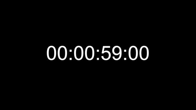 vídeos y material grabado en eventos de stock de timecode countdown real time one minute 24 fps - esfera de reloj