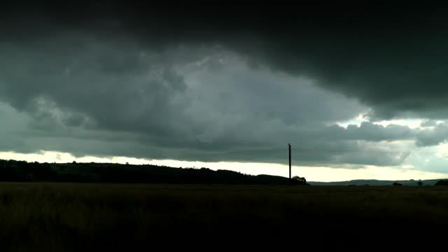 timelaose of atmospheric rain clouds, munster - weather stock videos & royalty-free footage