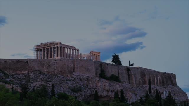 hd timelapes : acropolis, athens - mythology stock videos & royalty-free footage