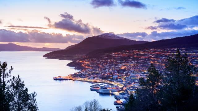 4K Timelapes : Beautiful Fjord Scenery