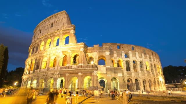 stockvideo's en b-roll-footage met hd timelapes: colosseum in de schemering, rome, italië - capital cities