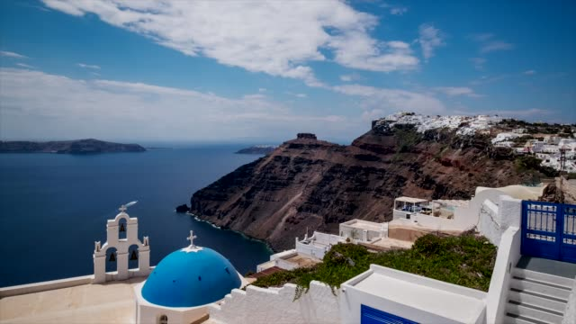 hd timelapes : village of fira in santorini island, greece - oia santorini stock videos & royalty-free footage