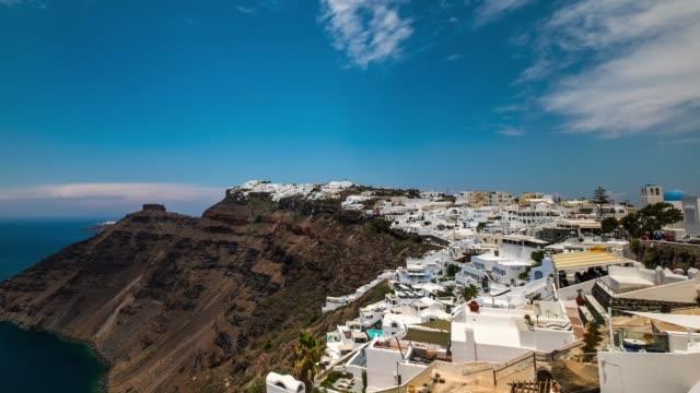HD Timelapes : Village of Fira in Santorini Island, Greece