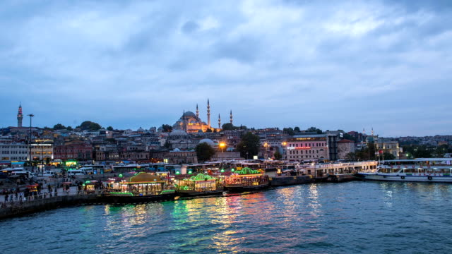 hd timelaps istanbul the capital of turkey, eastern tourist city. - eminonu district stock videos and b-roll footage