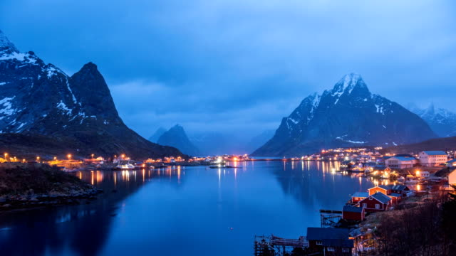 4k timelaps :lofoten islands the county of nordland, norway. - nordland county stock videos & royalty-free footage
