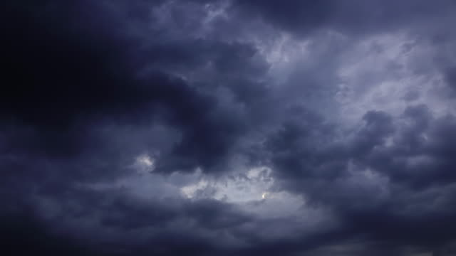 time-lapse 4k, dark rain clouds sky - dramatic sky stock videos and b-roll footage