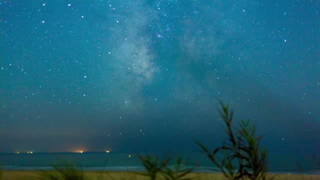 stockvideo's en b-roll-footage met timelapse 4k milkyway stars moving in sky - silvestre