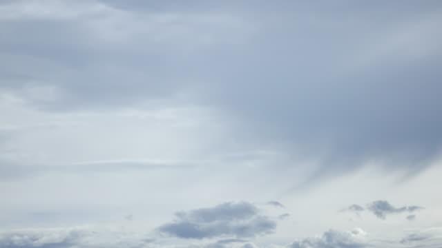 Time-lapse 4k, rain clouds sky