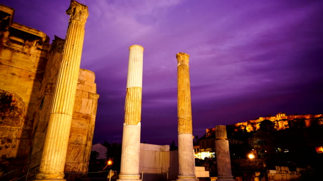 time-lapse :acropolis at sunset, athens - athens greece stock videos & royalty-free footage