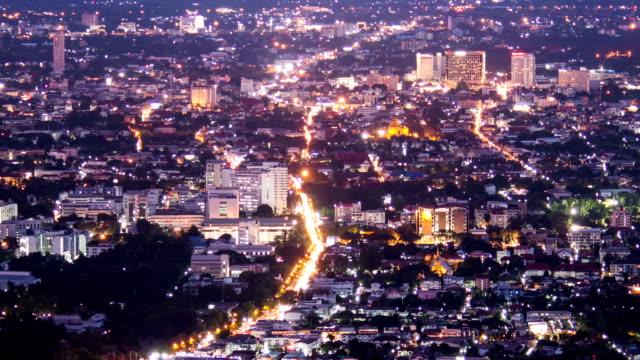 stockvideo's en b-roll-footage met hd time-lapse: aerial nightscape met centrum zonsondergang - kapiteel