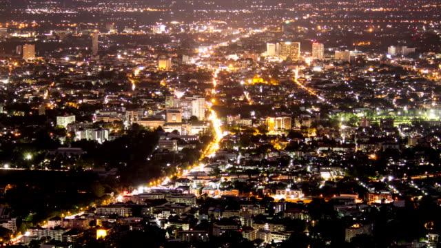 stockvideo's en b-roll-footage met hd time-lapse: aerial nightscape met centrum twilight - kapiteel