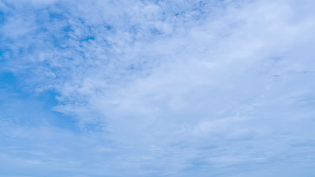 timelapse aerial shot of clouds rolling over blue sky - simplicity stock videos & royalty-free footage
